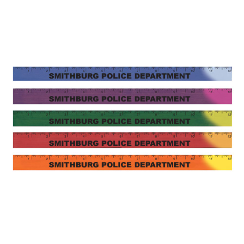 <!--25-->Imprinted 12 Mood Ruler - Assorted