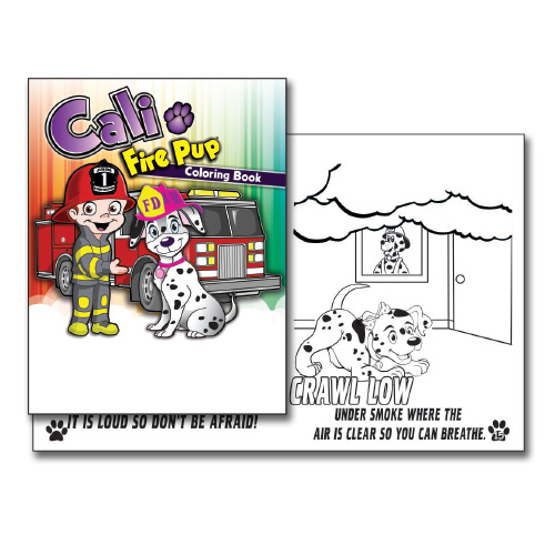 Cali Fire Pup Coloring Book