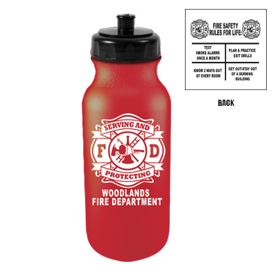 Custom 20 oz Bike Bottle - Red