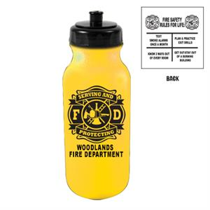 Custom 20 oz Bike Bottle - Yellow