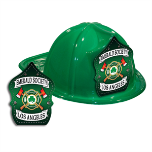 Custom Fire Hat - Green - St. Patty's Shield
