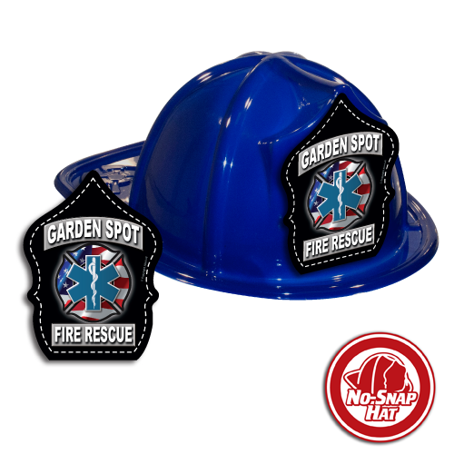 Custom Fire Hats - BLUE - Fire & EMS Shield