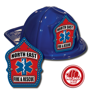 Custom Fire Hats - Blue - EMS Shield