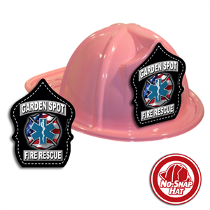 Custom Fire Hats - Pink Fire & EMS Shield