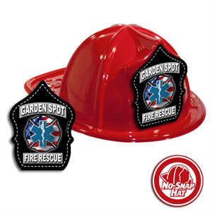 Custom Fire Hats - RED - Fire & EMS Sheild
