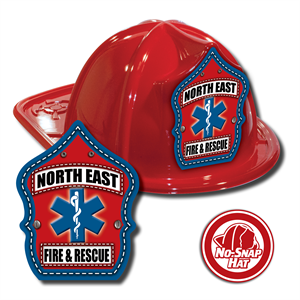 Custom Fire Hats - Red - EMS Shield