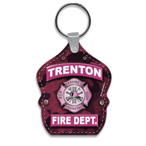 Custom Vinyl Shield  Key Tag - Pink Camo