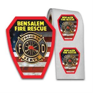 Full Color Custom Fire Patch Shield Sticker