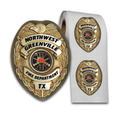 Full Color Oval Badge Sticker