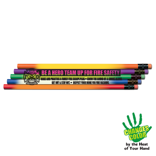 Heat Changing Team Up For Fire Safety Pencil