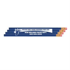 Imp. Economy Pencil - Royal Blue - Police Dog