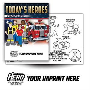 Imp. Today's Heroes Coloring Book w/ Theme Logo