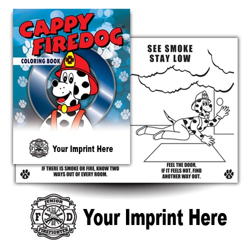 Imprinted Cappy Coloring Book