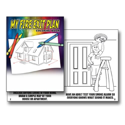My Fire Exit Plan Coloring Book