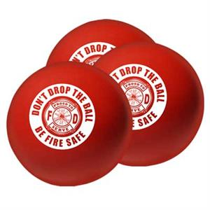 Stock 2.75^ Red Stress Ball - Don't Drop The Ball
