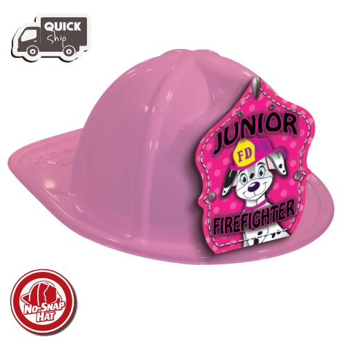Stock Pink Fire Chief Hat-Dalmatian Shield