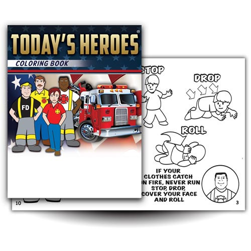 Today's Heroes Coloring Book