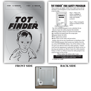 Tot Finder Fire Safety Stickers, Next Generation
