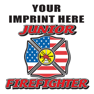 Custom Junior Firefighter Temporary Tattoo
