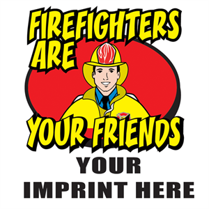 Custom Freddie Firefighter Temporary Tattoo