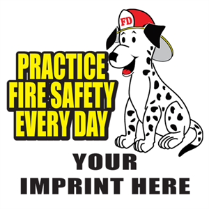 Custom Practice Fire Safety Temporary Tattoo