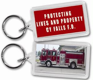 Custom Acrylic Fire Truck Key Tags