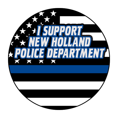 <!--08-->Custom 3' Circle Magnet - Support Police