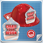 <!--1-->Red Custom Fire Hat - Create Your Own