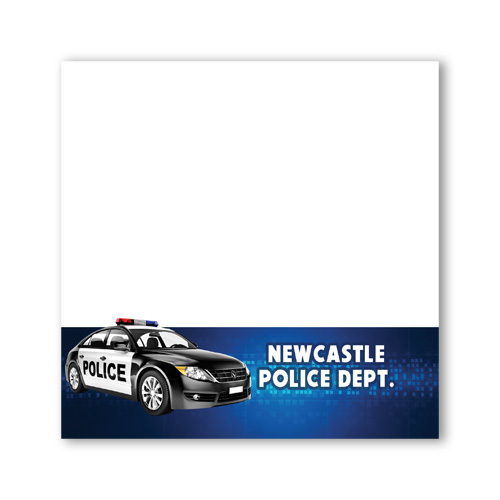 <!--11-->Imprinted Sticky Notes - Police Car