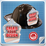 <!--2-->Black Custom Fire Hat - Create Your Own