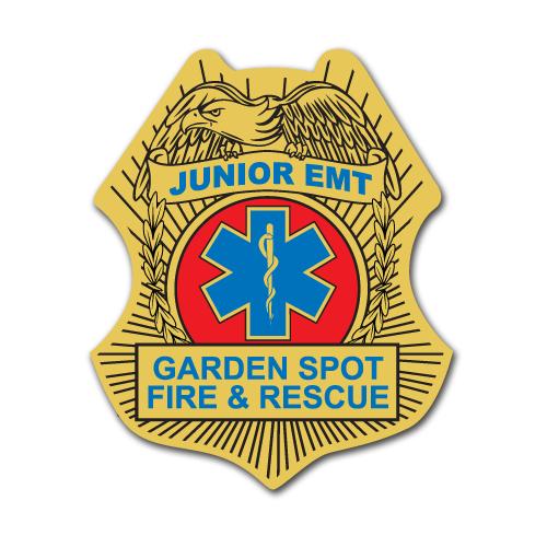 Custom EMT Stick On Badge
