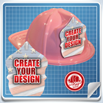 <!--3-->Pink Custom Fire Hat - Create Your Own