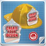 <!--4-->Yellow Custom Fire Hat - Create Your Own