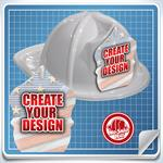 <!--5-->White Custom Fire Hat - Create Your Own