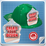 <!--6-->Green Custom Fire Hat - Create Your Own