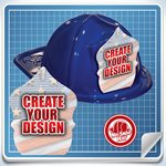 <!--7-->Blue Custom Fire Hat - Create Your Own