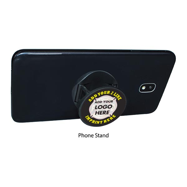 Black Phone Holder w/ Custom Logo