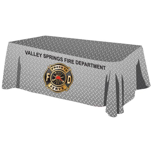 Custom - 8 ' Tablecloth - Diamond Plate