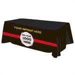 Custom - 8 ' Tablecloth - Red Line
