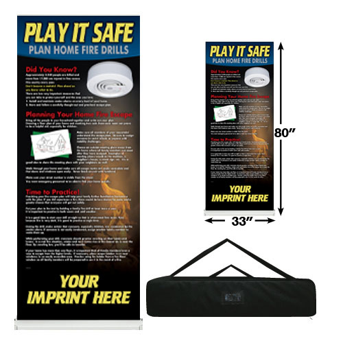 Custom - Fire Exit Drill Banner Roll Up