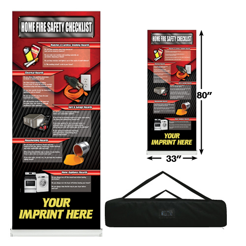 Custom - Home Fire Safety Banner Roll Up