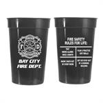 Custom 17 oz. Black Stadium Cup