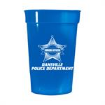 Custom 17 oz. Blue Stadium Cup - Police Star