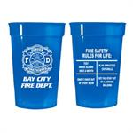Custom 17 oz Blue Stadium Cup