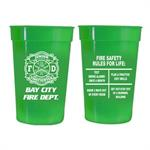 Custom 17 oz Green Stadium Cup