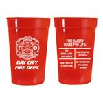 Custom 17 oz Red Stadium Cup