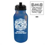 Custom 20 oz Bike Bottle - Blue