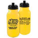 Custom 2019 Theme Yellow 20oz Bike Bottle w/Black