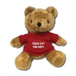 Custom 7^ Imprinted Brown Bear W/ T-Shirt