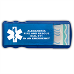 Custom Bandage Dispenser in Blue w/ Star of Life